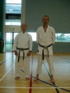 Abe Sensei with Sensei Kevin Shortall